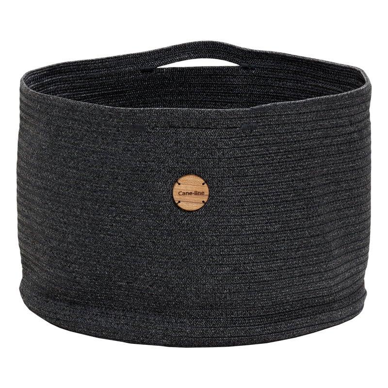 Cane-line Soft Rope basket, large, dark grey