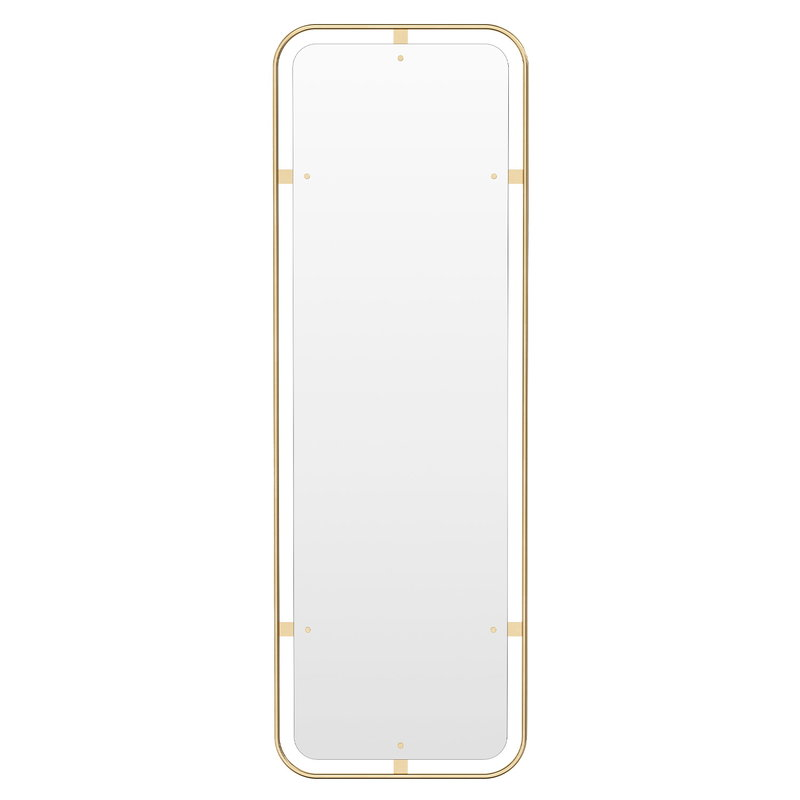 Menu Nimbus mirror, rectangular, polished brass