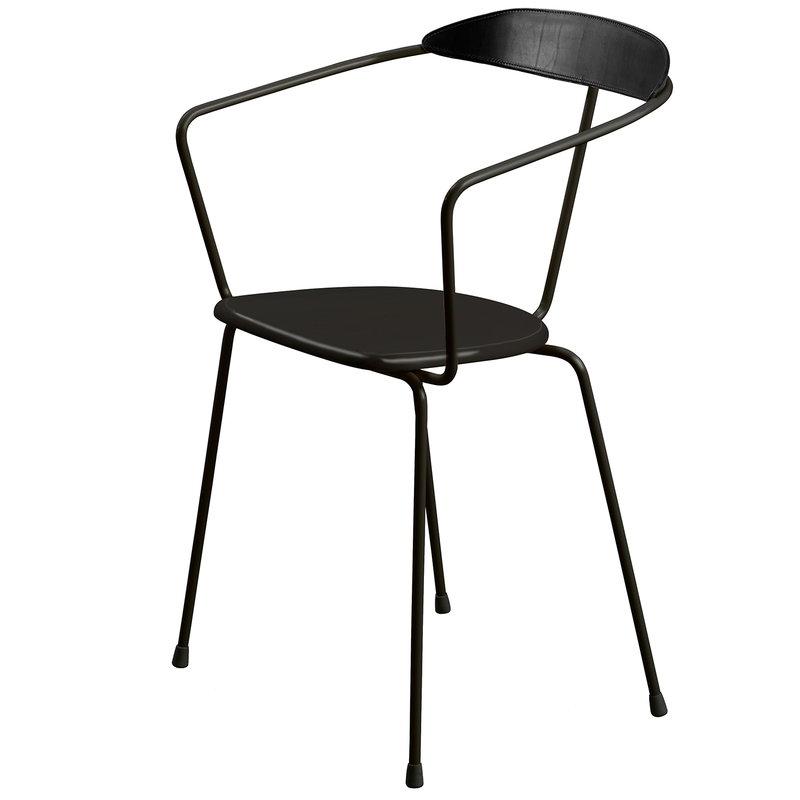 Minus Tio Ghost chair, straight legs, black