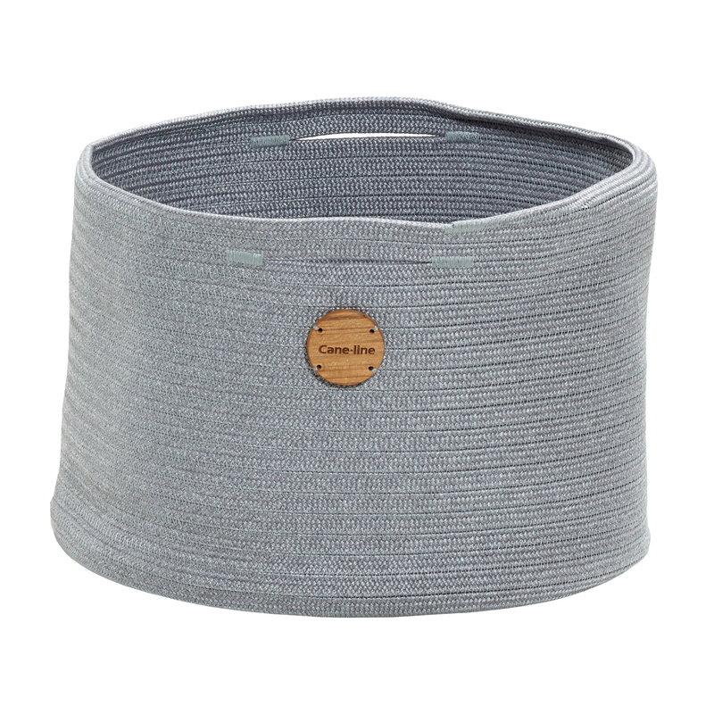 Cane-line Soft Rope basket, medium, light grey