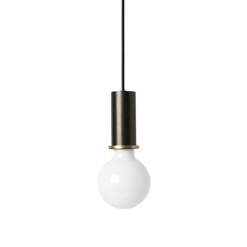 Ferm Living Lampada Socket Pendant Low, ottone nero