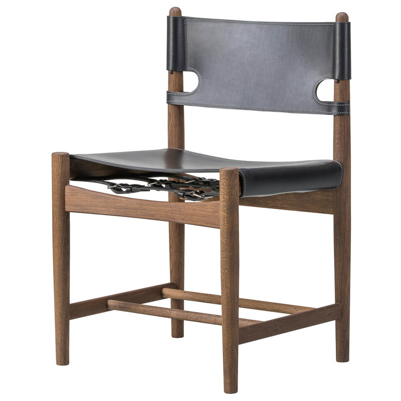 Fredericia The Spanish Dining Chair, black leather ...