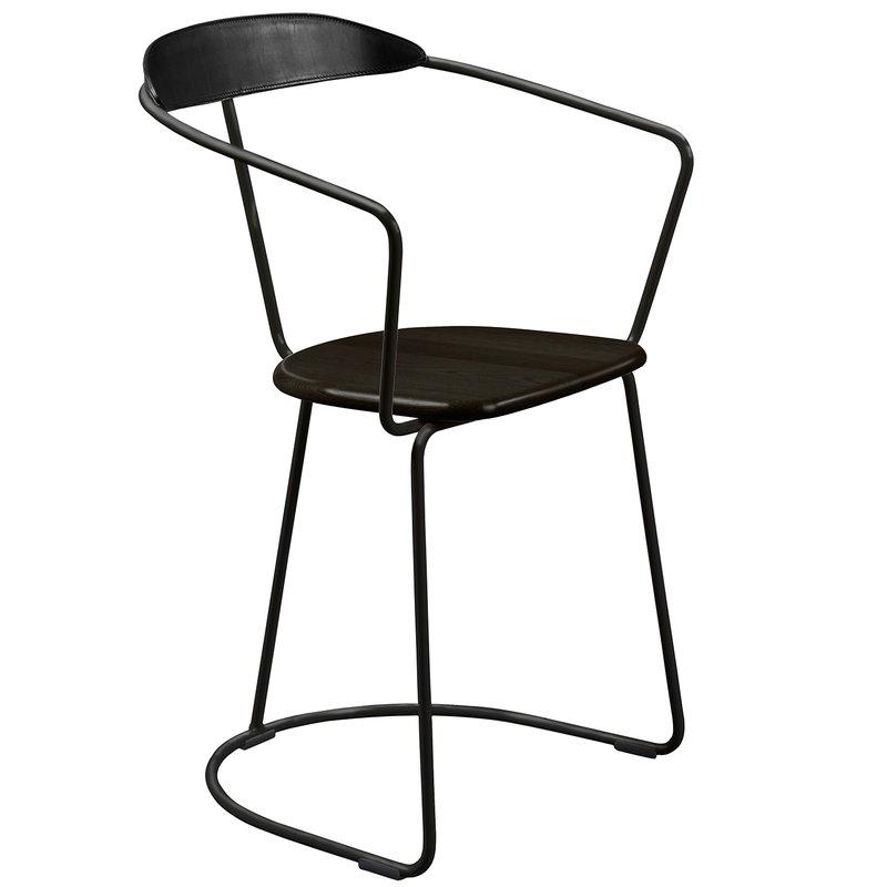 Minus Tio Ghost chair, sled base, black