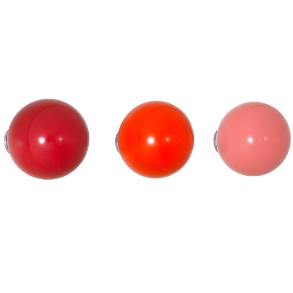Vitra Coat Dots, set of 3, red