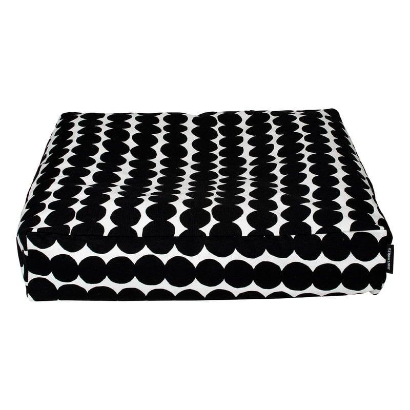 Marimekko Räsymatto seat cushion, white - black