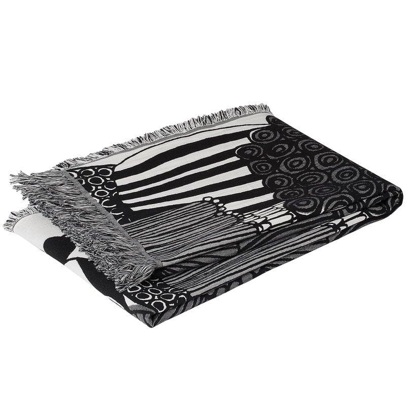 Marimekko Coperta Siirtolapuutarha, nero - bianco naturale