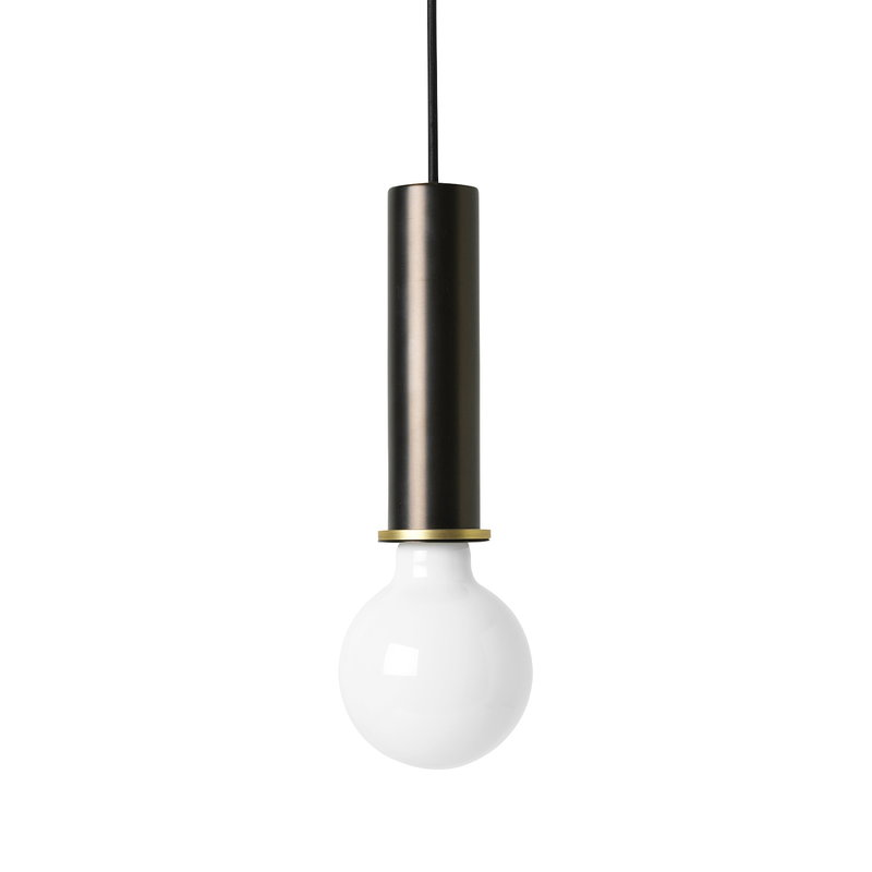 Ferm Living Lampada Socket Pendant High, marrone rosso - Kopio