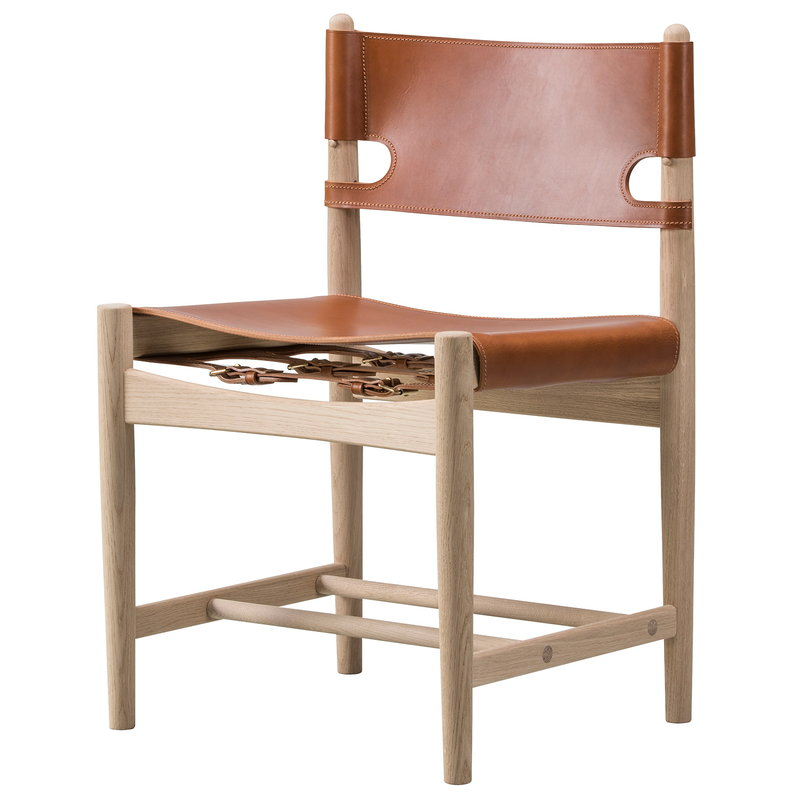 Fredericia The Spanish Dining Chair, pelle cognac