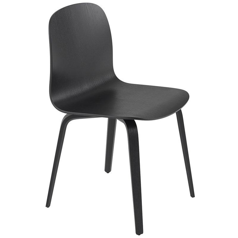 Muuto Visu chair, wood base, black