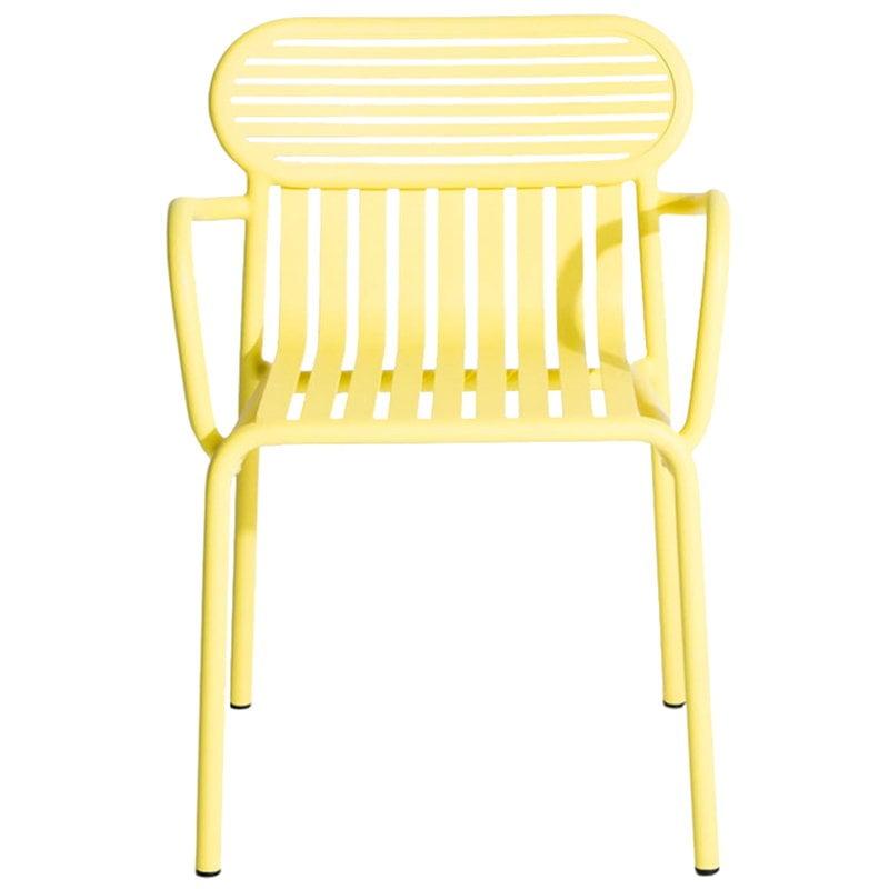 Petite Friture Week-end käsinojallinen tuoli, keltainen