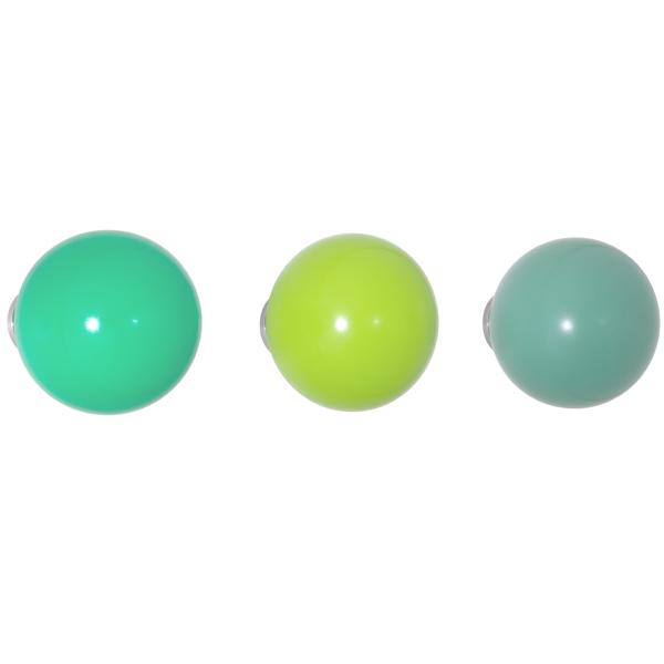 Vitra Coat Dots ripustimet, 3 kpl, vihreä