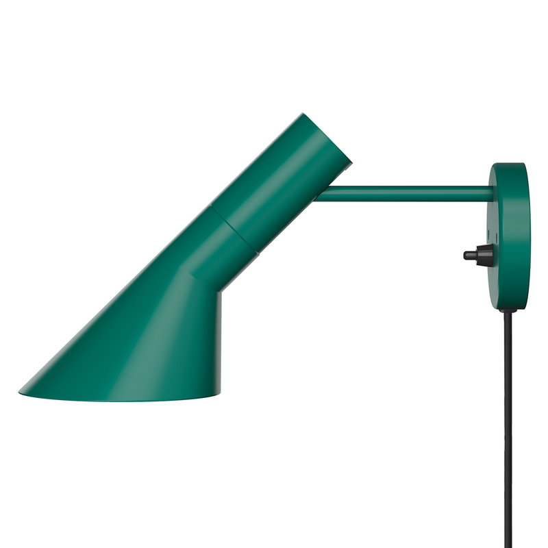 Louis Poulsen AJ wall lamp, dark green