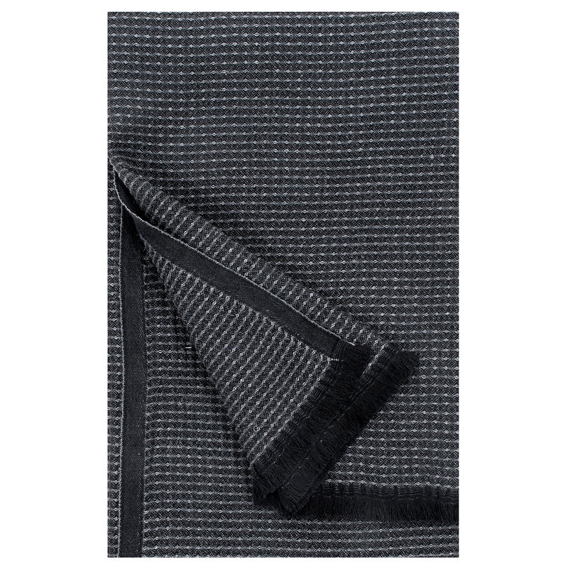 Lapuan Kankurit Laine bath towel, black - graphite