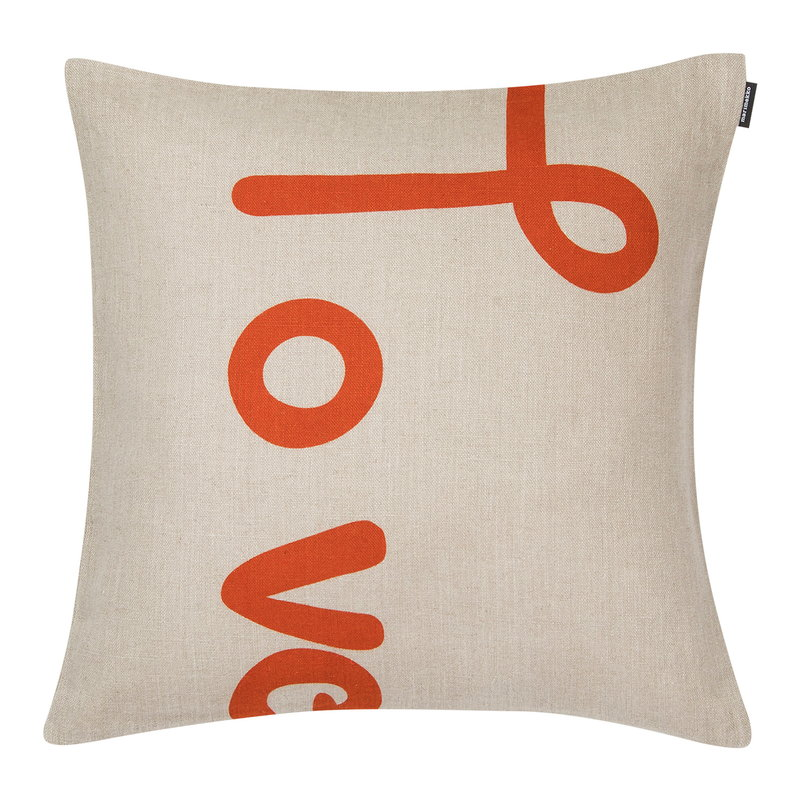 Marimekko Love cushion cover 40 x 40 cm, linen - orange