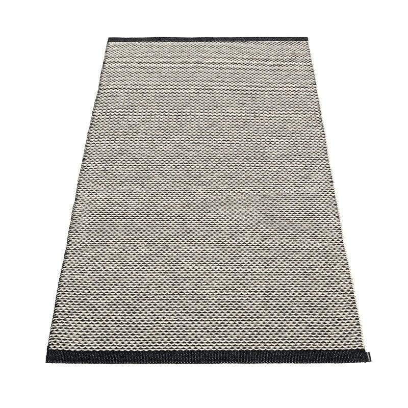 Pappelina Effi rug 85 x 160 cm, black - warm grey - vanilla