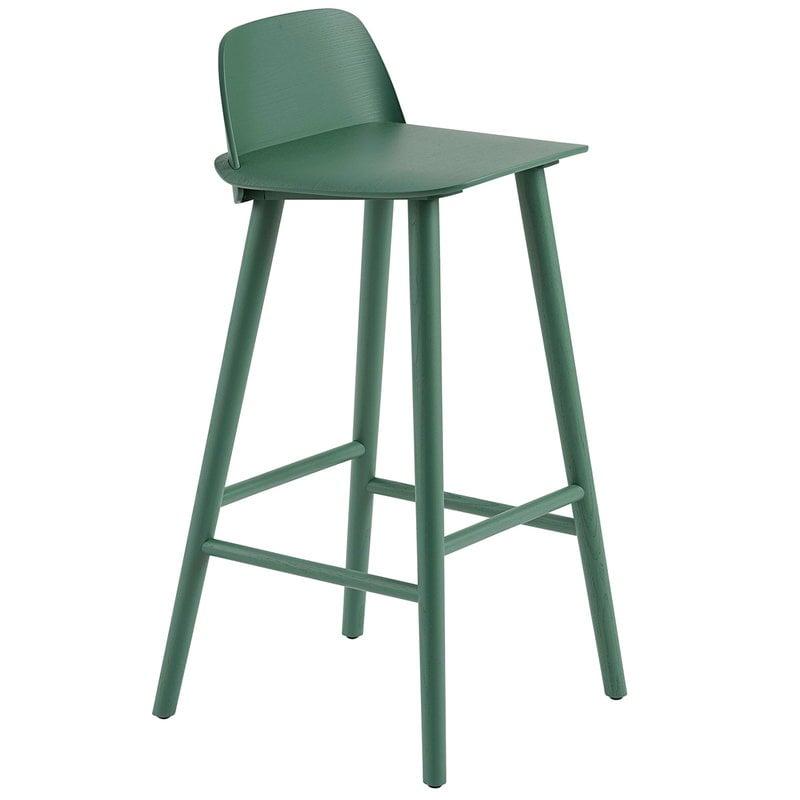 Muuto Nerd bar stool, 75 cm, green