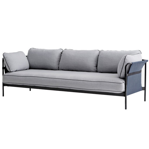 Hay Can sofa 3-seater, black-blue frame, Surface 120
