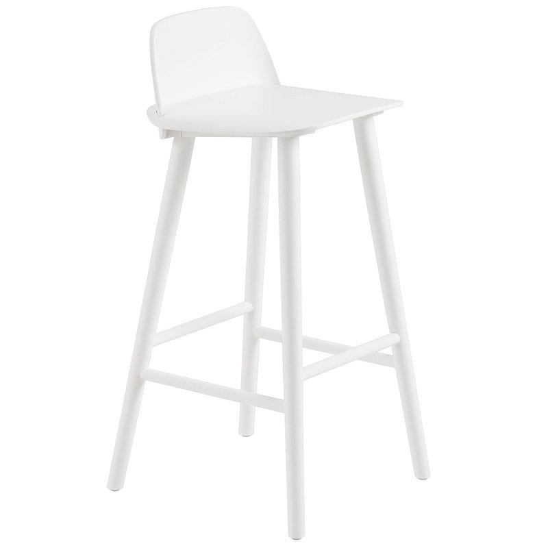 Muuto Nerd baarituoli, 75 cm, valkoinen