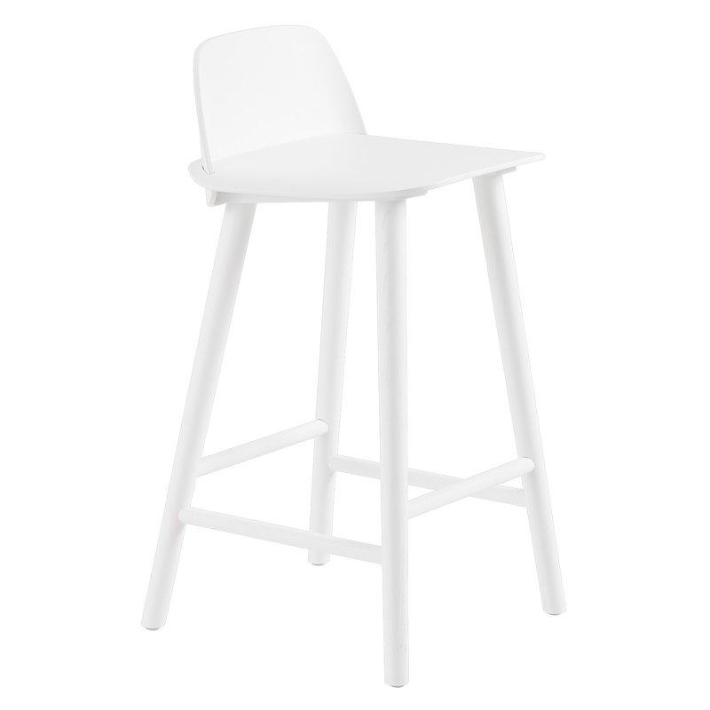 Muuto Nerd counter stool, 65 cm, white