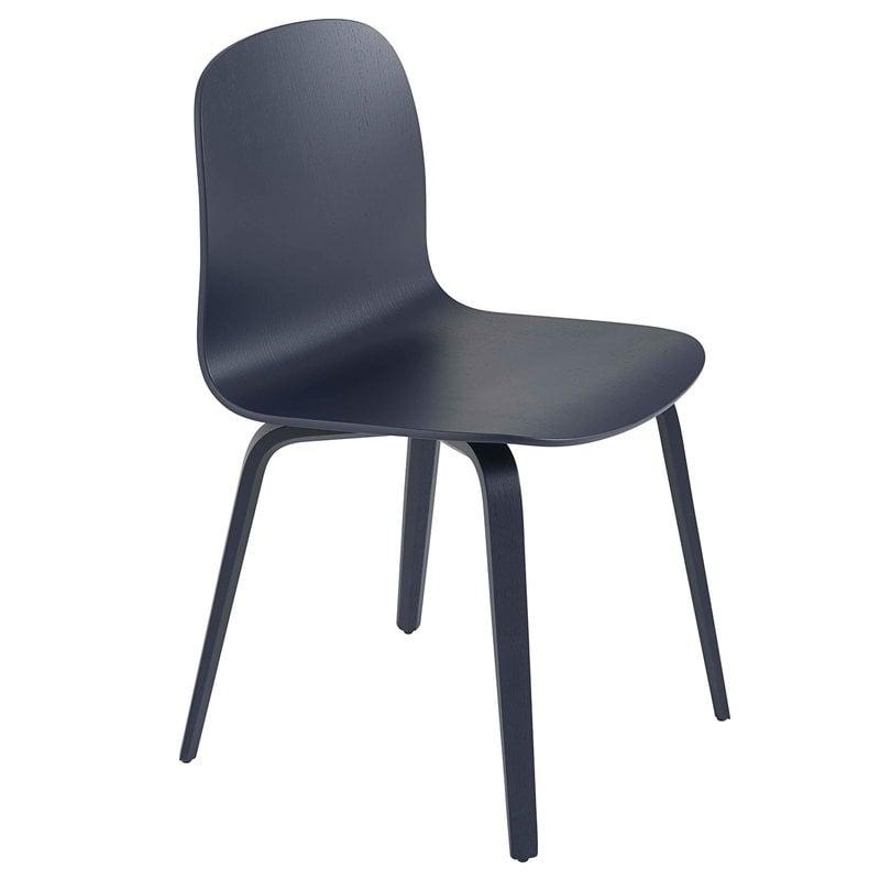 Muuto Visu tuoli, puujalat, midnight blue