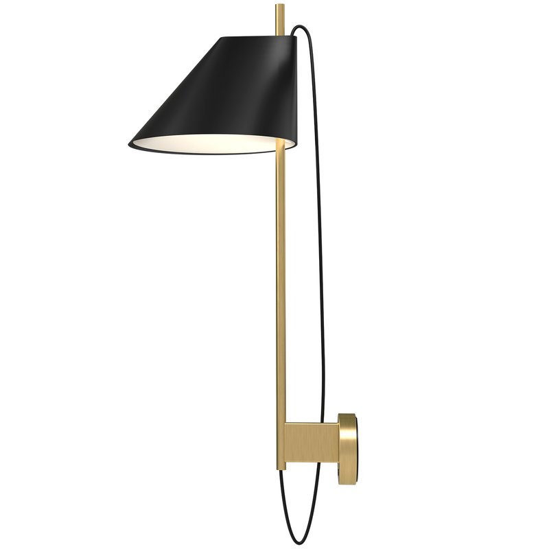 Louis Poulsen Yuh wall lamp, brass - black