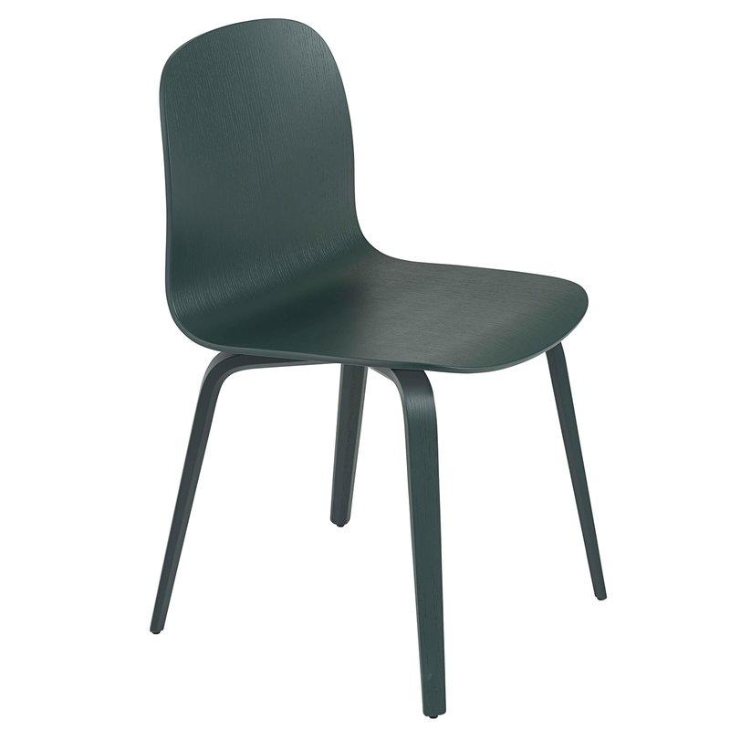 Muuto Visu tuoli, puujalat, tummanvihreä