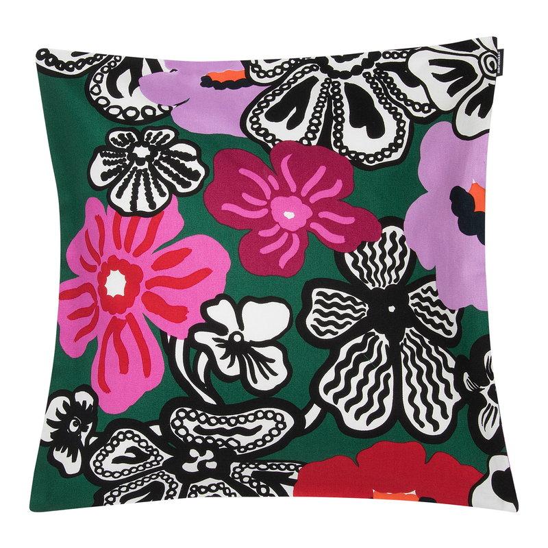 Marimekko Kaukokaipuu tyynynpäällinen 45 x 45 cm, vihreä-violetti-punainen
