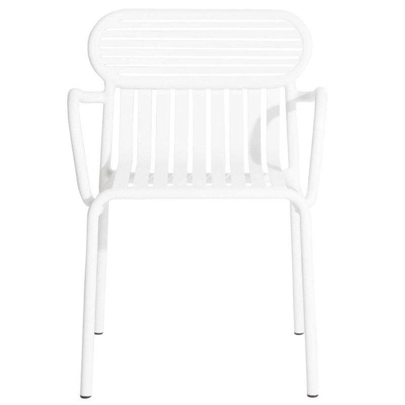 Petite Friture Week-end käsinojallinen tuoli, valkoinen
