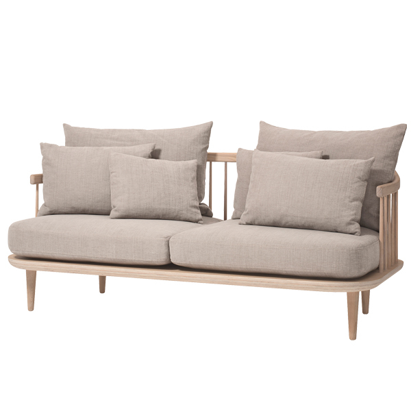 &Tradition Fly SC2 sofa, white oiled oak - Hot Madison 094