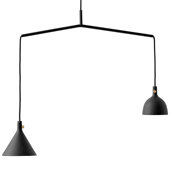 Menu Cast pendant, Shape 4, black