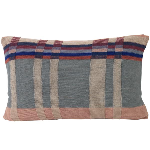 Ferm Living Medley Knit cushion, large, dusty blue