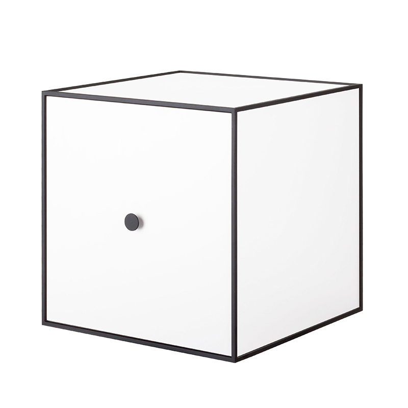 By Lassen Frame 35 box with door, white