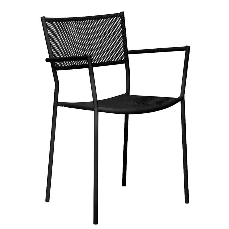 Massproductions Jig Mesh käsinojallinen tuoli, musta