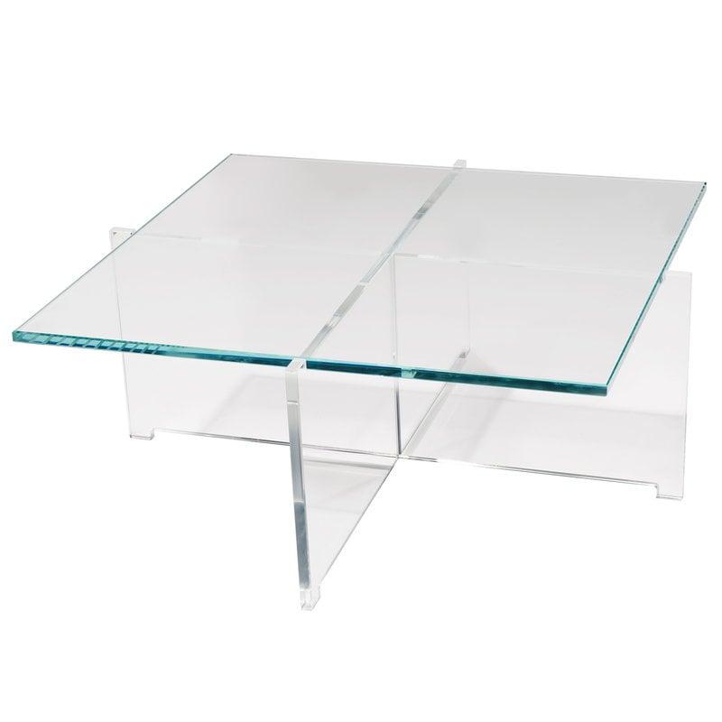 Karakter Cross Plexi coffee table, 80x80