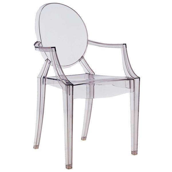Superbe Kartell Louis Ghost Chair, Grey