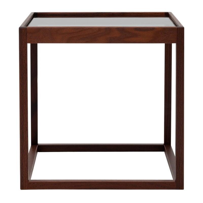 Klassik Studio Cube table, smoked oak - smoked glass
