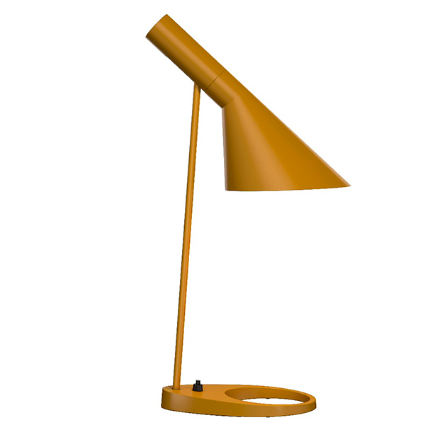 Louis Poulsen AJ table lamp, yellow ochre