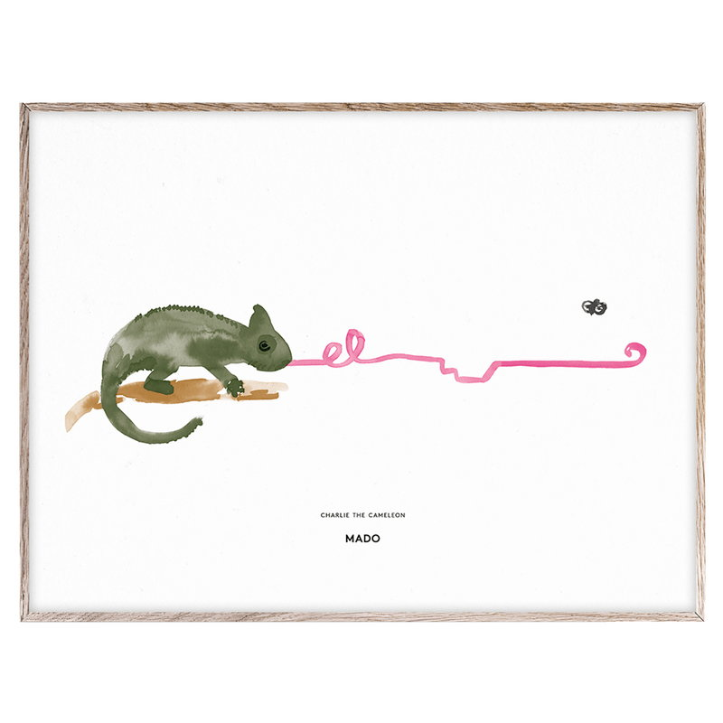 MADO Charlie the Chameleon poster, 40 x 30 cm