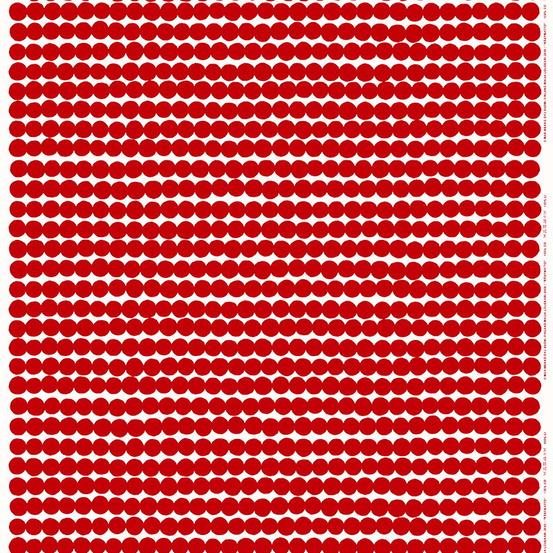 Marimekko Räsymatto fabric, red-white