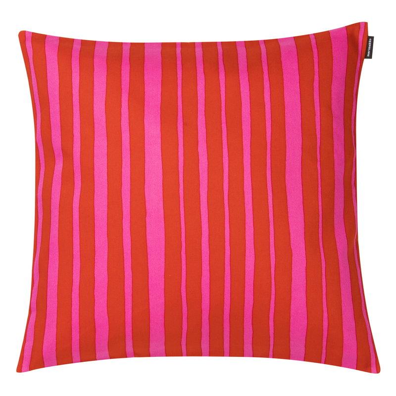 Marimekko Raide cushion cover, 40 x 40 cm, red - pink
