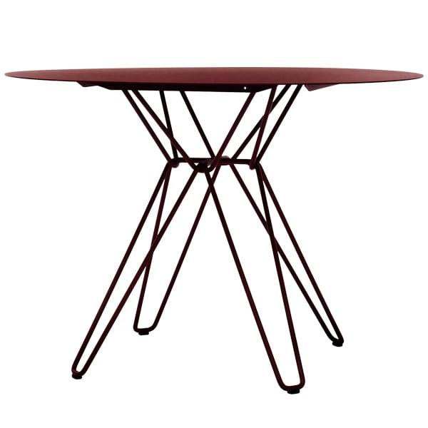 Massproductions Tavolo da pranzo Tio, rosso vino