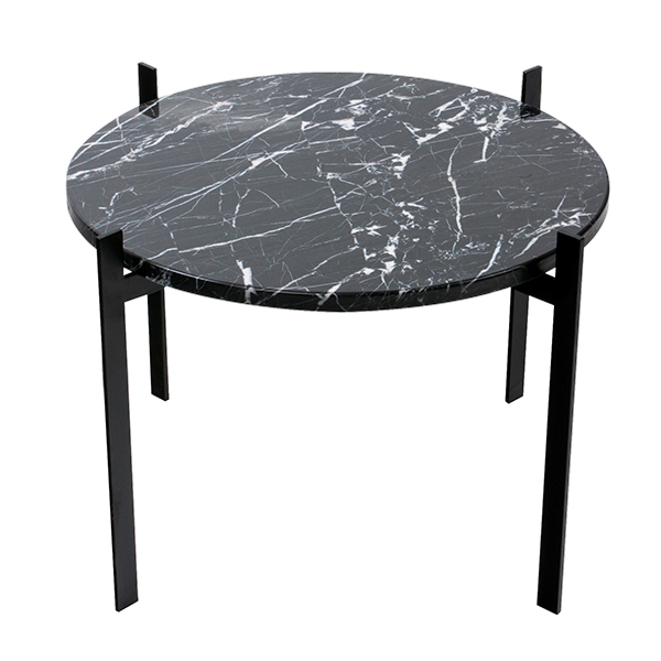 OX Denmarq Single Deck table, black - black marble