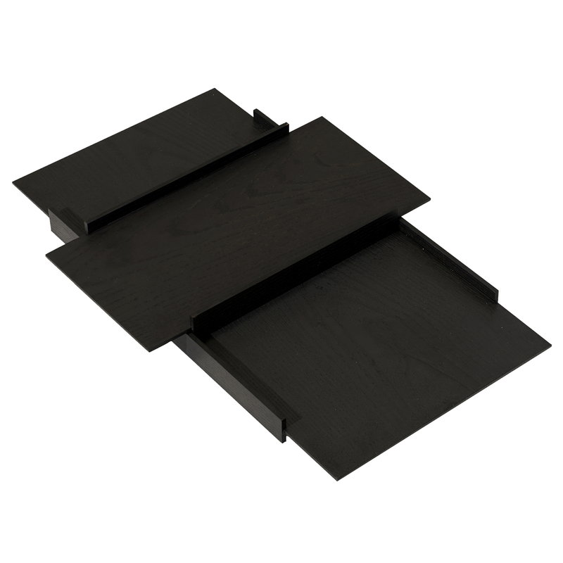 PLEASE WAIT to be SEATED Kanso tray set, black