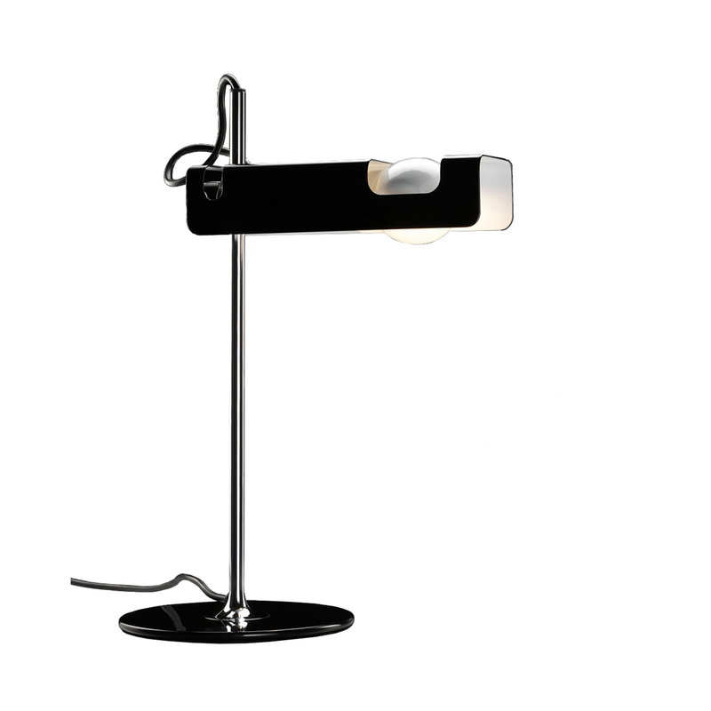 Oluce Spider 291 table lamp, black