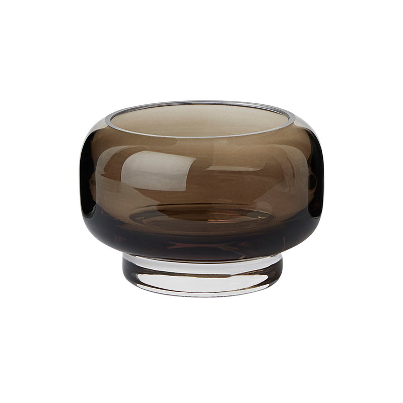 Warm Nordic Stack tealight holder, small, brown
