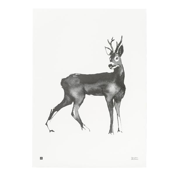 Teemu Järvi Illustrations Poster Deer, 70 x 50 cm