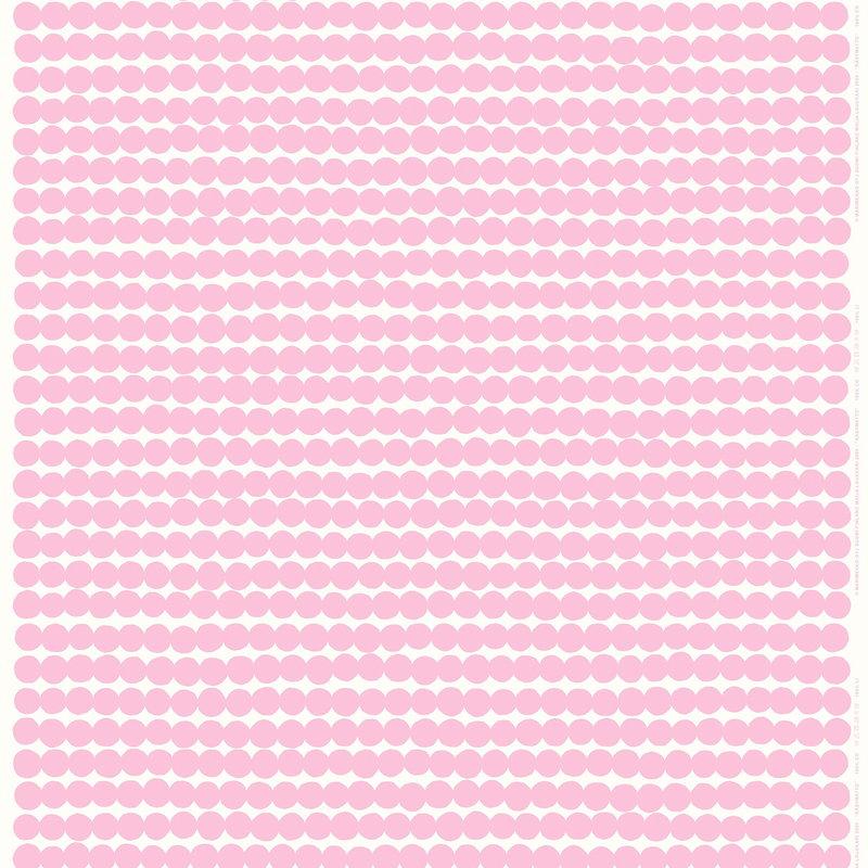 Marimekko Räsymatto pinnoitettu puuvillakangas, valkoinen-vaaleanpunainen