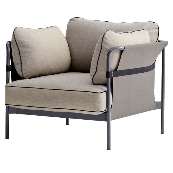 Hay Can 1-seater, grey-grey frame, Surface 420