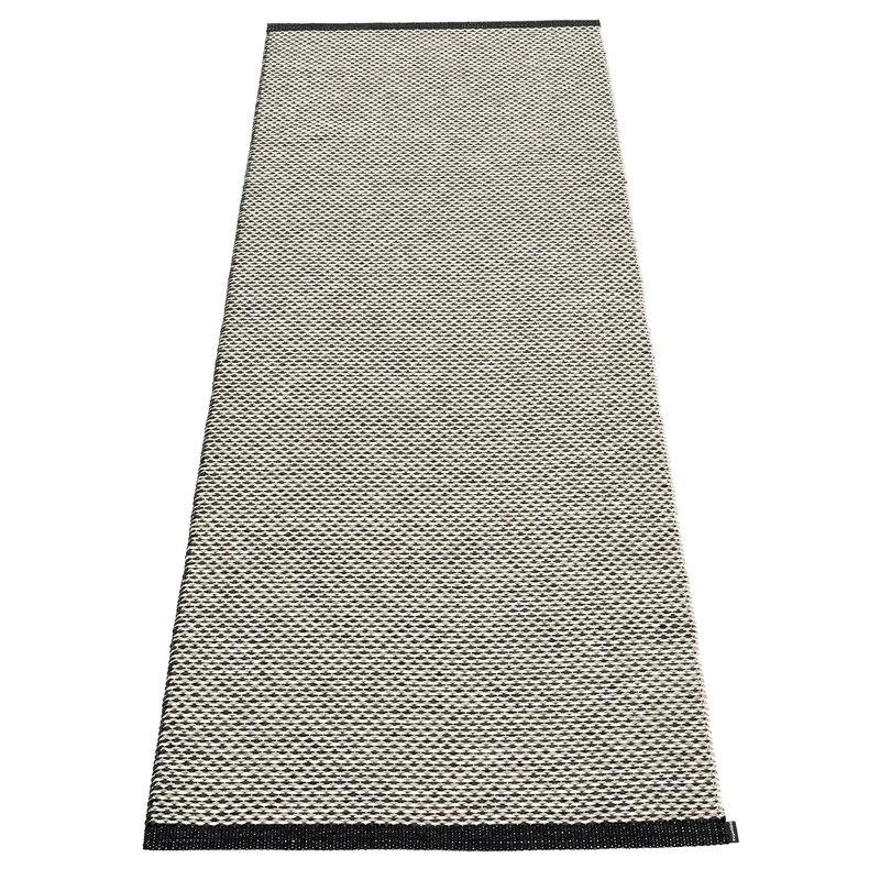 Pappelina Effi matto 70 x 200 cm, black - warm grey - vanilla