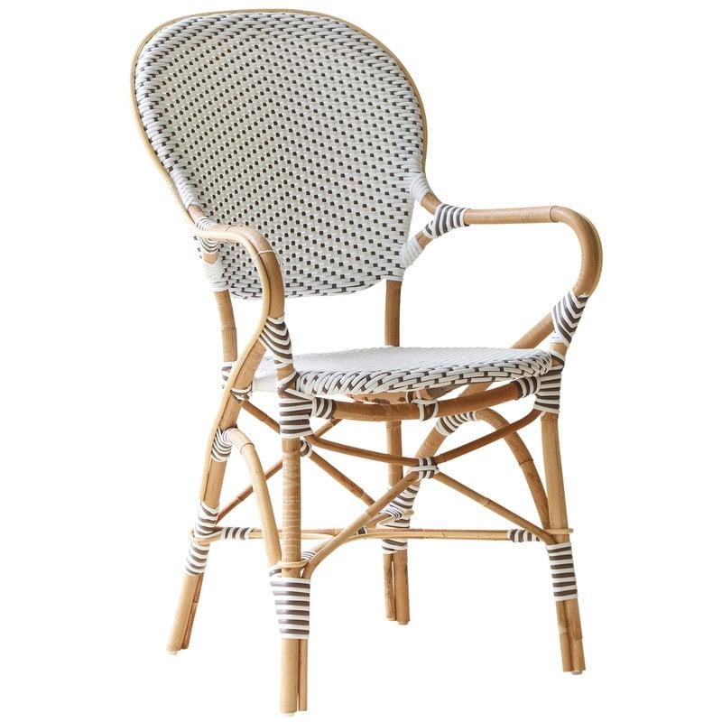 Sika-Design Isabell tuoli käsinojilla, valkoinen